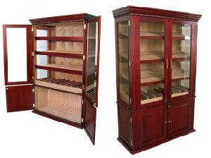 Gem Humidor Cedar Wood Lined Cigar Humidor Cabinet Giant Display Cigar  Cabinet With High Gloss Cherry