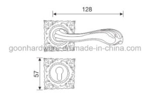 Zinc Alloy Door Handle on Rose - 011 pictures & photos