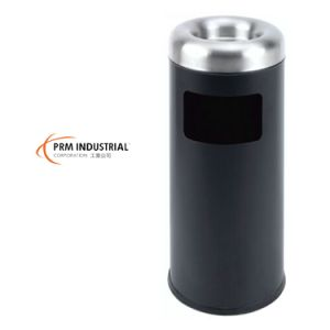 Black Powder Coated Steel Rubbish Bin & Carbage Bin pictures & photos