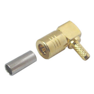 SMB Male Right Angle Crimp Type RF Connector