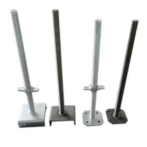 Gavanized Scaffold Adjustable Solid/Hollow Jack Base for Buliding pictures & photos