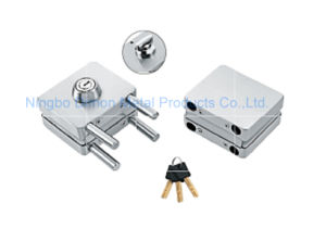 Dimon Sliding Glass Door Lock Double Door Double Cylinder Central Lock with Knob (DM-DS 120-2)
