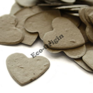 Heart Shaped Plantable Confetti in Stone Grey