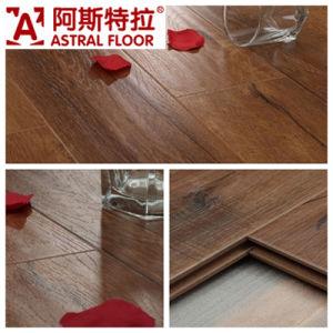 Click System Handscraped Grain Surface Laminate Flooring (AS0007-17)