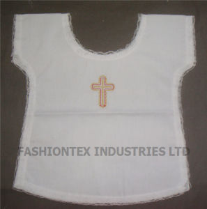 Wholesale High Quality Cotton White Kids Baptismal Bib pictures & photos