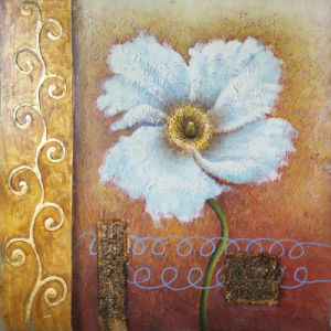 Wholesale Handmade Oil Paint Floral Painting on Canvas (LH-159000)