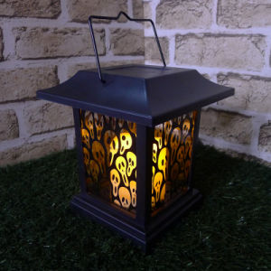 Halloween Small Haunted Faces Square Lantern