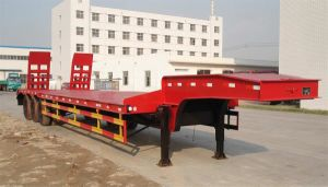 Three Axle 60ton Low Platform Low Flat Bed Semi Trailer pictures & photos