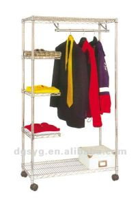 Garment Rack with Metal Wire Shelving