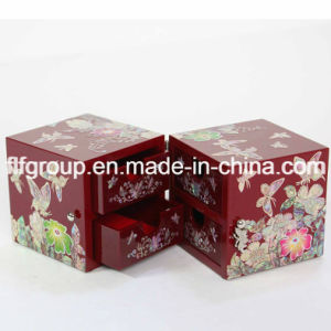China Fancy Painted Customized Wooden Jewelry Box Made of MDF