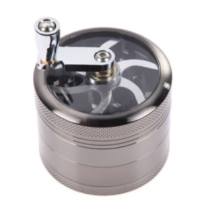 Bontek 5-Layer Metal Hand Smoke Detector Grinder Herb with Handle pictures & photos