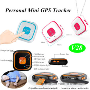 Real-Time Tracking Personal Large Sos Button GPS Tracker (V28) pictures & photos