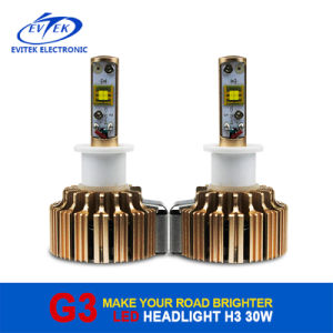 G3 LED Headlight Bulb H3 Car LED Headlight 60W 6400lm for Car Headlamp Conversion Kit 6000k pictures & photos