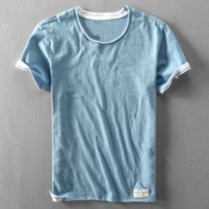 Summer Soft Oversize Casual Simple Thin Bamboo T-Shirts for Men