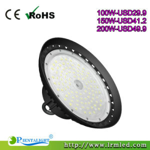 Industrial Lighting 100W 150W 200W IP65 UFO LED High Bay Light for Warehouse Workshop Stadium Garage Shop