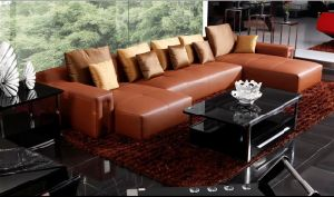 Leather Sofa (E5-650) pictures & photos