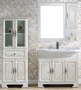 Rubber Oak Wood Bathroom Vanity (TC3735)