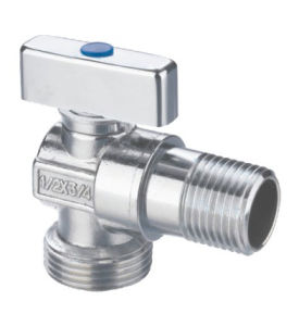 Nickle Plated Brass Angle Valve with Zinc Handle pictures & photos