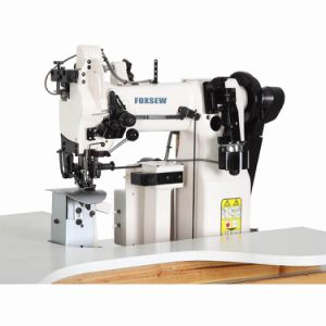 Single Needle Lockstitch Post-Bed Machine for Finishing Armholes pictures & photos