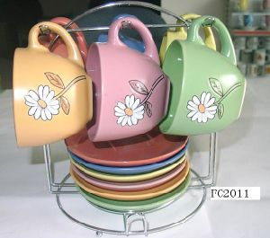 Ceramic Cup & Saucer 12PCS Set (EP1003)