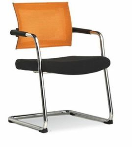 Black and Orange Mesh & Visitor Chair (40026) pictures & photos