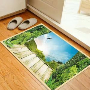 Printed Polyester Bath Mats with PVC Backing pictures & photos