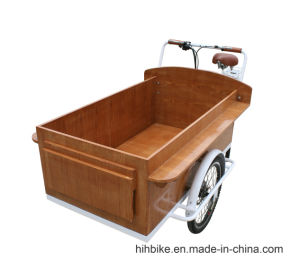 Wooden Cart Trike with Power Assist pictures & photos