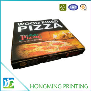 Cheap Custom Printed Brown Packaging Box for Pizza pictures & photos