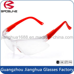 Economical Shatterproof Onion Cutting Safety Glasses Clear Lens Red Temple Woodworking Metalcutting Indoor or Outdoor Working pictures & photos