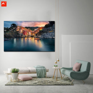 Cotton Canvas Painting of Seaside Island Villas