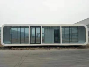 Smart Portable White Prefabricated Modular Container House Office Coffee Shop with Clear Window