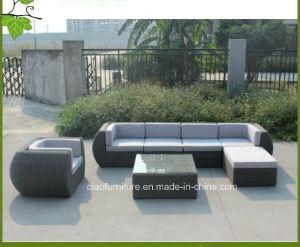 China Luxury Modern Outdoor Furniture Grey Rattan Garden Wicker Sofa Cf701
