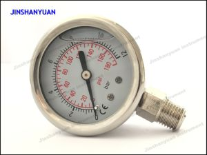 Og-004 Bottom Type of Liquid Filled Pressure Gauge pictures & photos