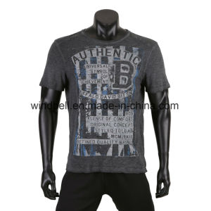 Cotton T Shirt for Men with Dirty Wash pictures & photos