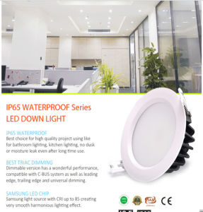 AC85-265V 3000k 12W IP65 Dimmable LED Downlight with 3 Years Warranty