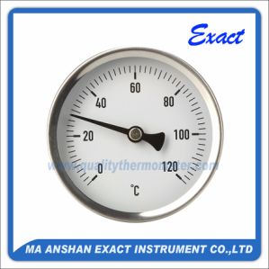 Hot Water Thermometer - Back Mount Thermometer - Bimetal Pipe Thermometer