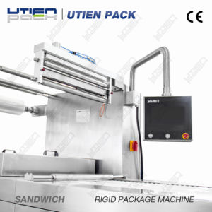 Bakery Sandwiches Bread Cakes Thermoforming Vacuum Gas Flush Packaging Machine pictures & photos