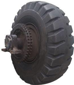 Chinese High Quality Resilient Polyurethan Truck Solid Tyre pictures & photos