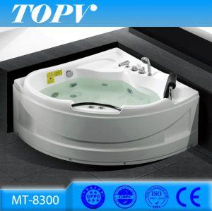 Modern Bathroom Corner 1.3m Jet Whirlpool Massage Bathtub For Mini Indoor  One Person Hot Tub