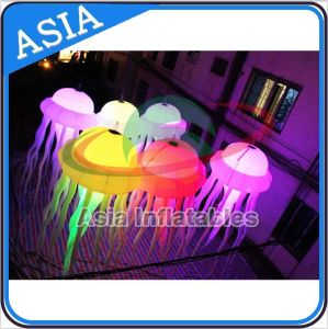Party Wedding Decoration LED Light Balloon, Hanging Colourful LED Jellyfish, Inflatable Stage Decorative Inflatable Octopus pictures & photos