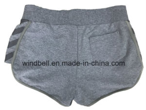Comfortable Melange Fabric Sport Shorts for Women pictures & photos