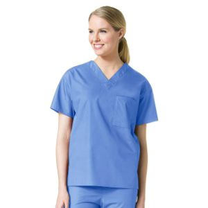 2 Pockets Nursing Uniforms Wholesale Women Solid Medical Scrubs