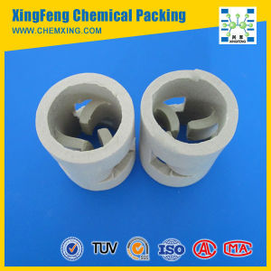Excellent Acid Resistance and Heat Resistance Ceramic Pall Ring Packing pictures & photos