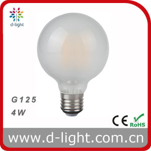 G125 Milky Glass LED Filament Bulb 4W