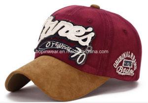 2ec608358077 Custom Vintage Enzyme Wash Embroidery Paches Logo Suede Visor Baseball Cap