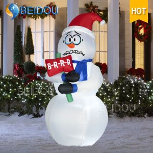 Human Christmas Ornaments Snowman Tree Inflatable Christmas Decorations