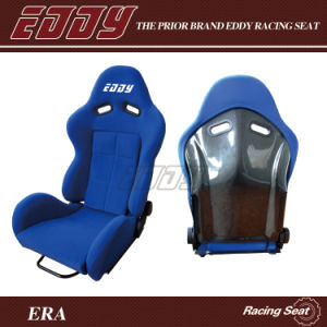 Eddy Luxury New Item Black Carbon Fiber Adult Car Seat in Blue Velvet Fabric Cover