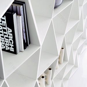 Pure White OEM Shape Customized Solid Surface Book Shelf pictures & photos