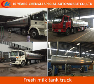 30m3; Fresh Milk Tank Truck 8X4 Milk Tanker Truck for Sale pictures & photos