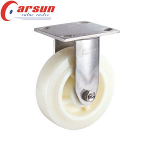 6inches Heavy Duty Fixed Caster with Nylon Wheel (stainless steel)